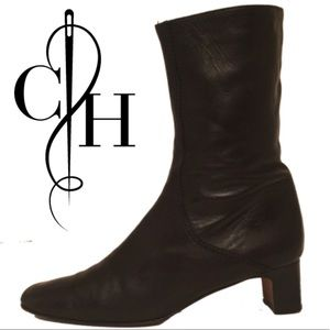 Cole Haan Shoes - Cole Haan Black Sleek Leather Bootie Boot Boots